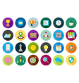 Web round icons set vector image vector image