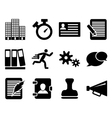 Icon set twelve vector image