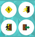 flat icon exit set of directional direction vector image