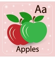 image of the letters A and two apples vector image