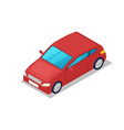 modern red car isometric 3d icon vector image