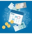 payment schedule day calendar payday deadline vector image