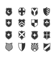 Protection shield icons vector image