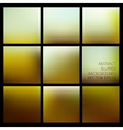 Set of abstract blurred brown backgrounds vector image
