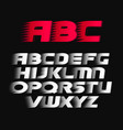 sport font alphabet bold italics letters vector image
