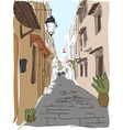 traveling European Greece street sketch vector image