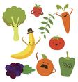 Vegetable food cartoons vector image