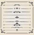 vintage set of ector horizontal elements vector image