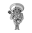 Isolated mexican man design vector image