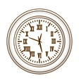 gray wall clock icon image vector image