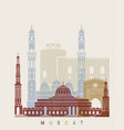 muscat skyline poster vector image