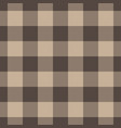 lumberjack plaid pattern in beige color seamless vector image