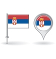 Serbian pin icon and map pointer flag vector image