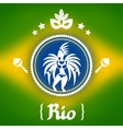 Rio background with stylized objects and cultural vector image