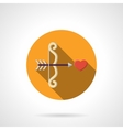 Love at first sight color round flat icon vector image