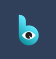 Letter B eye logo icon design template elements vector image
