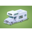 Low poly white camper vector image