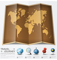 Travel And Journey World Map With Point Mark vector image