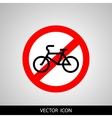 No bicycle bike prohibited symbol Sign vector image