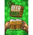Beer party poster vector image