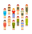 colorful of collection of women Young girls vector image