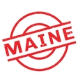 Maine rubber stamp vector image