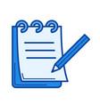 paperwork line icon vector image