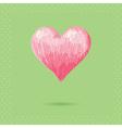 Romantic Valentine sketch heart invitation postcar vector image