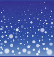 Winter Snowfall Background vector image