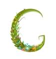 Alphabet letter G elegant flower blooming vector image vector image