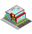 supermarket building isometric view vector image