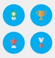 set of simple reward icons vector image