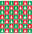 christmas tree pattern set vector image vector image