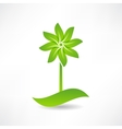 green windmill design element icon vector image vector image