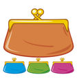 old purse coin purse vector image vector image