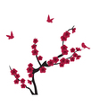 blooming red vector image vector image
