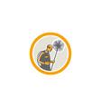Chimney Sweep Worker Retro vector image