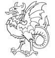 heraldic dragon No7 vector image
