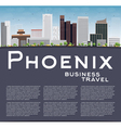 Phoenix Skyline with Grey Buildings vector image