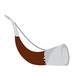 Hunting horn vector image