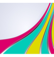 3d abstract multicolor lines vector image