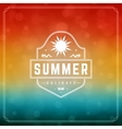 Summer Holidays Typography Label Design on Grunge vector image vector image
