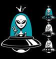 alien king vector image
