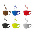 coffee cup stickers vector image