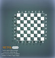 Modern Chess board icon On the blue-green abstract vector image