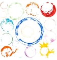 multicolored paint circles vector image