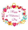 Valentines day template for cards posters flyers vector image