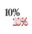10 discount design vector image