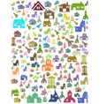 seamless background of house symbol vector image vector image