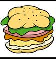 Hamburger vector image vector image